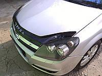 Дефлектор капота (мухобойка) Opel Astra H 2004-2012, Vip Tuning, OP04
