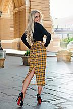 """Деловой женский костюм-двойка """"Cassia"""" с клетчатой юбкой (2 цвета), фото 3"""