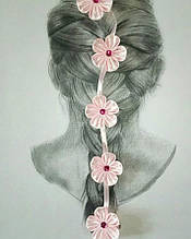Детская заколка для волос для девочки Handmade Украина Питуния