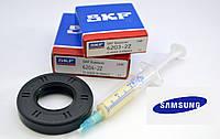 Комплект подшипников (SKF 203,204), сальник 25*50.55*10/12 для стиральных машин Samsung