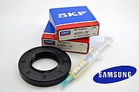Комплект подшипников (SKF 205,206), сальник 35*65,55*10/12 WLK для стиральных машин Samsung