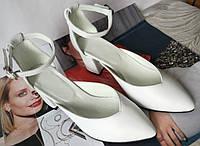Комфортные туфли Limoda из натуральной кожи босоножки на каблуке 6 см, фото 1