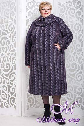 Женское зимнее пальто больших размеров (р. 60-76) арт. 524 Тон 19/1, фото 2