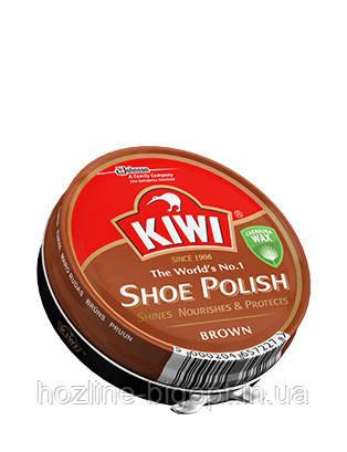 KIWI крем для обуви шайба КОРИЧНЕВЫЙ 50 мл.
