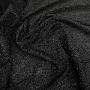 Трикотаж люрекс черный