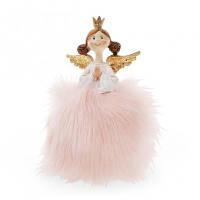 Фигурка новогодняя Принцесса в розовом 16 см. .Новогодний декор