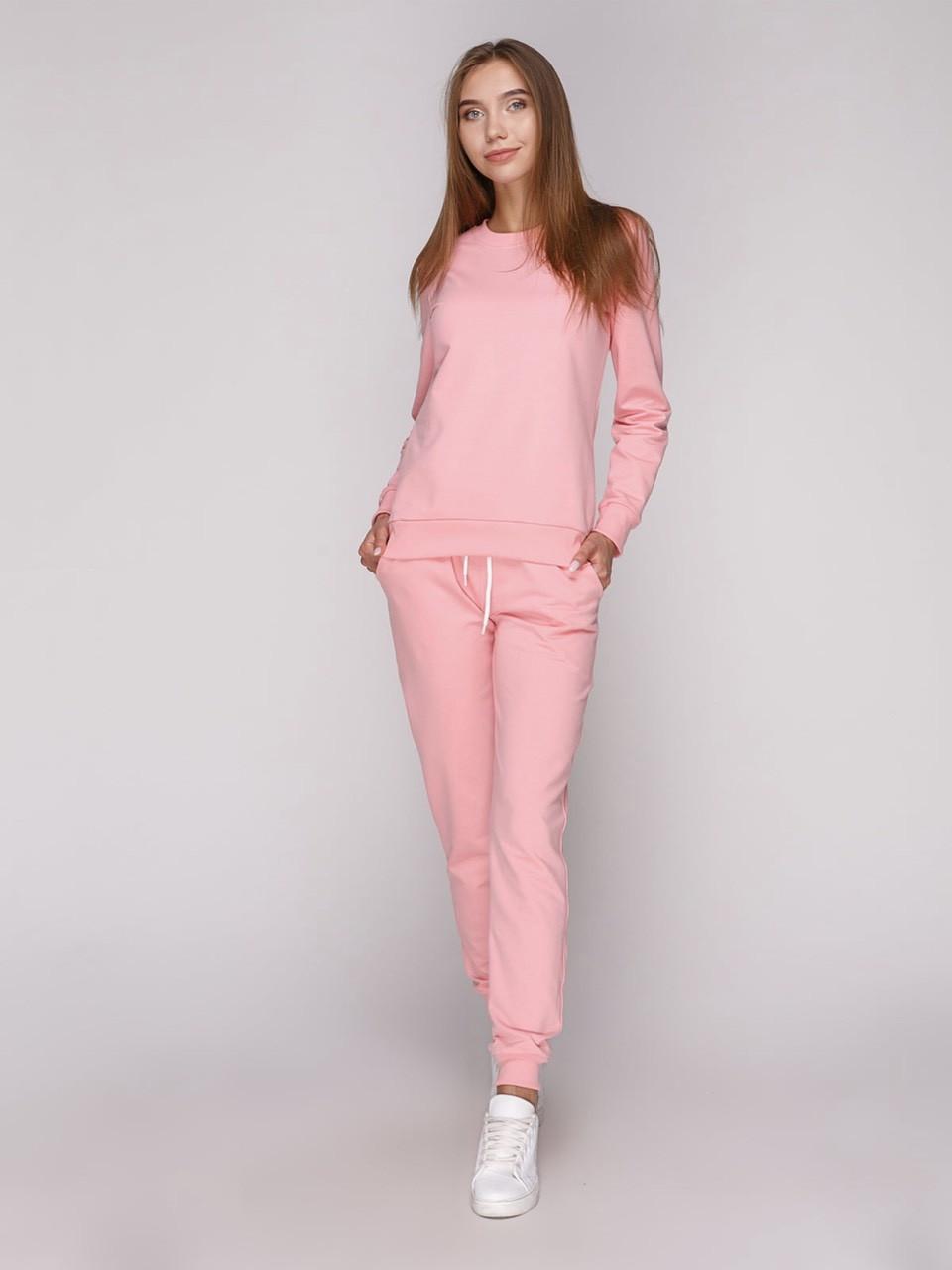 Світшот жіночий, рожевий під принт