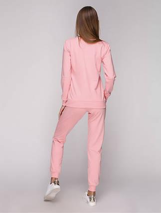 Світшот жіночий, рожевий під принт, фото 2