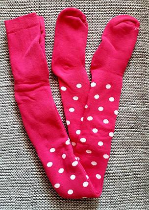 Махровые колготы детские розового цвета ТМ Дюна (Украина)  размер 116 122, фото 2