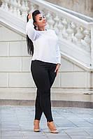 Джинсы черные стрейчевые женские Slim с декором, фото 1
