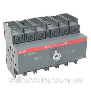 Реверсивный рубильник OT100F3C 100A 3-полюсный без ручки управления