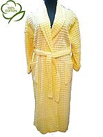 Халаты женские желтый из 100 % хлопка Valentina`s Secret, пр-ва Турции