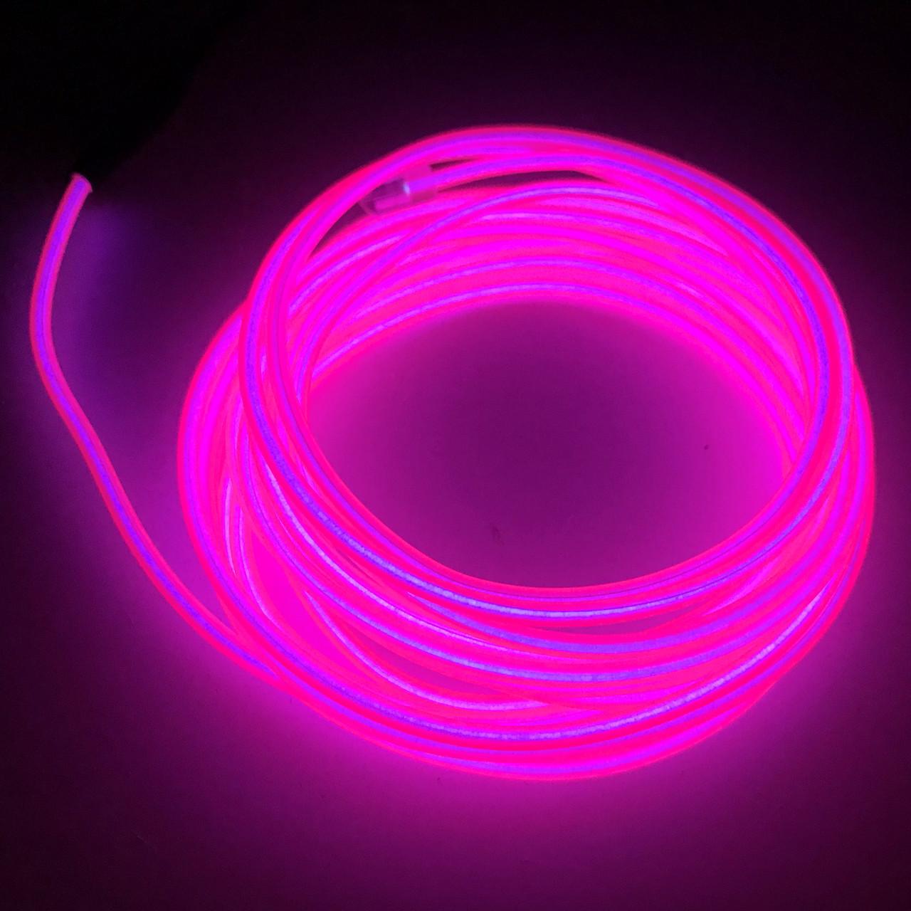 Холодный Неон Флекс 3м Светодиодный Розовый