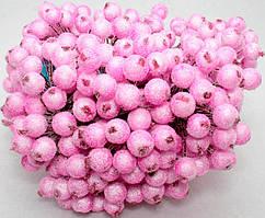 Калина сахарная для рукоделия  Ø12мм, 400 ягодок (200 двухсторонних проволочек) Цвет - Розовый