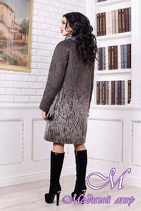 Женское меховое зимнее пальто коричневого цвета (р. 44-58) арт. 996 Тон 108, фото 2