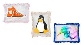 Подушка атласна прямокутна з Вашим дизайном