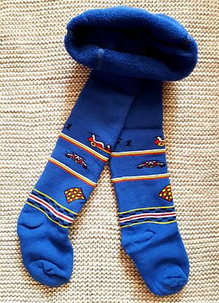 Махровые колготы детские синего цвета ТМ Jnnior (Украина)  размер  98 104, фото 2