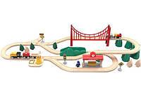 Конструктор деревянный Железная дорога Mi MITU Toy Train Set