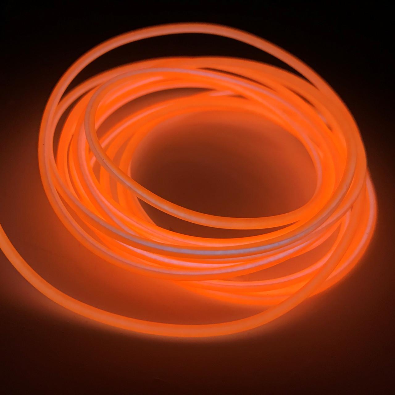 Холодный Неон Флекс 3м Оранжевый Светодиодный