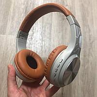 Беспроводные Bluetooth наушники SY-BT1607 Wireless headphones коричневые накладные блютуз