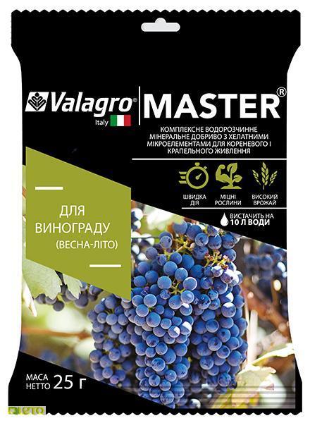 Мастер комплексное минеральное удобрение для винограда, 25 г