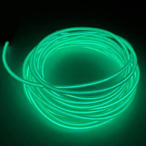 Холодный LED Неон Гибкий 3м Зеленый