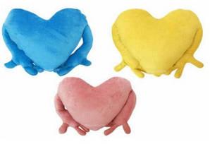 """Подушка-обнімашка у формі """"Серце"""" з Вашим дизайном"""