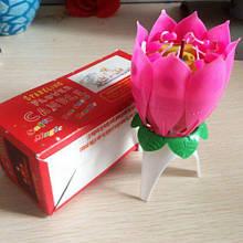 Свічка музична троянда 1шт в коробці