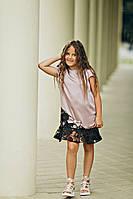Платье для девочек Анжелика лилового цвета