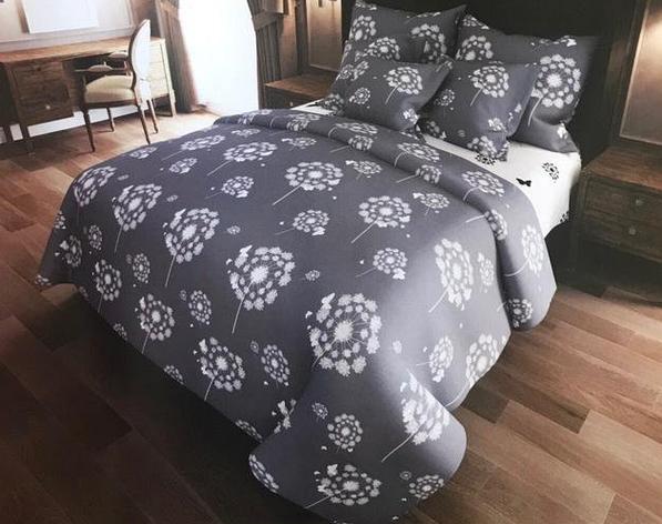 """Двуспальный комплект постельного белья """"Одуванчики бабочки"""", фото 2"""
