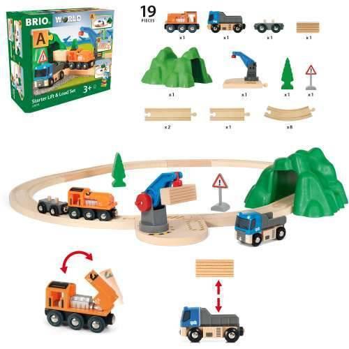 Железная дорога BRIO Погрузо-разгрузочный железно-дорожный набор 33878