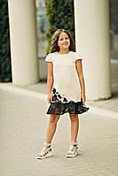 Платье для девочки Анжелика цвета насыщенный шампань