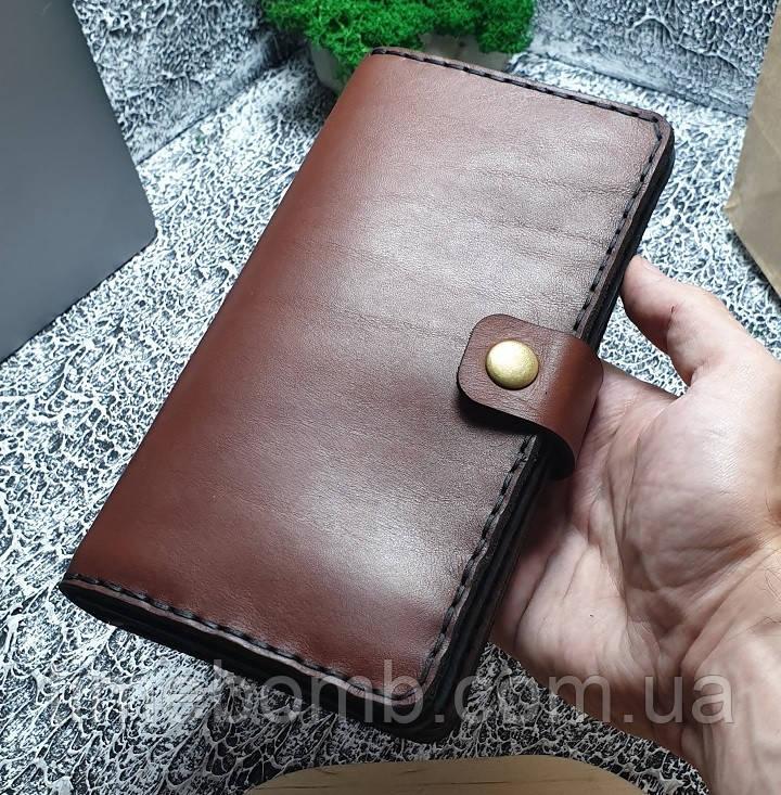 Мужской кожаный кошелек Биг Бой коричневый