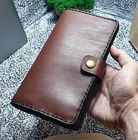 Мужской кожаный кошелек Биг Бой коричневый, фото 1