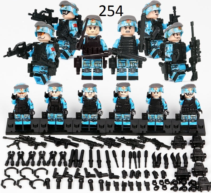 Фигурки СССР советские военные китайской армии SWAT спецназовцы лего Legо солдат