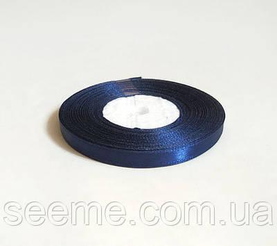 Лента атласная, 6 мм, цвет сапфировый синий