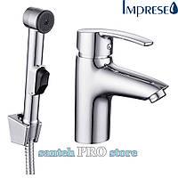 Набор для биде IMPRESE HORAK (смеситель + гигиенический душ с держателем + шланг 1,5м).