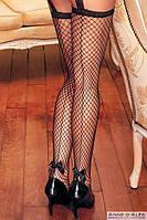Женские черные сексуальные чулки с поясом  Tosca Anne De Ales