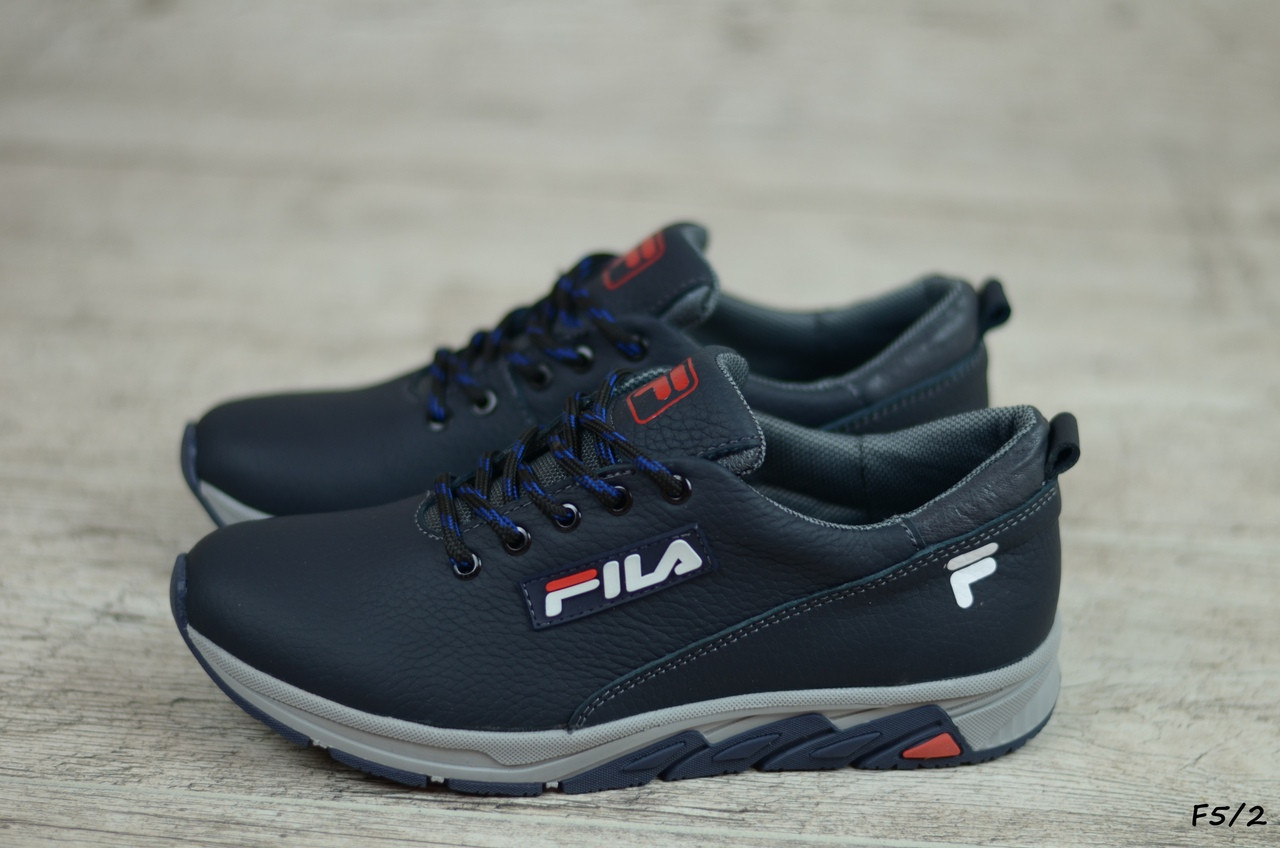Детские кожаные кроссовки Fila  (Реплика) (Код: F5/2   ) ► [36,37,38,39]