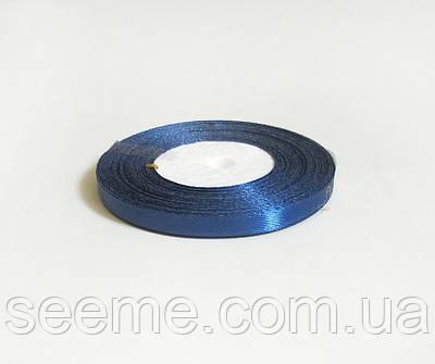 Лента атласная, 6 мм, цвет синий
