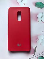 Силиконовый чехол Silicone Case для Xiaomi Redmi Note 4 / Note 4X Красный