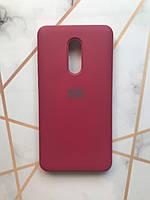 Силиконовый чехол Silicone Case для Xiaomi Redmi Note 4 / Note 4X Бордовый