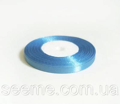 Лента атласная, 6 мм, цвет светло-бирюзовый