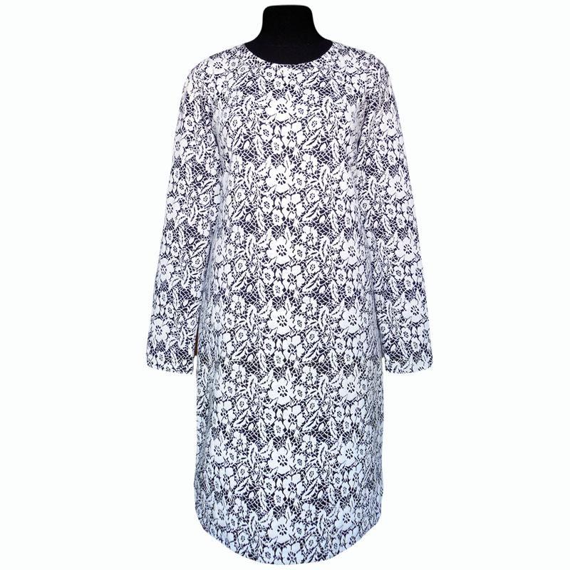 Платье теплое с длинным рукавом