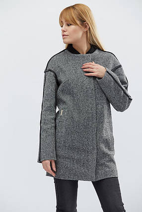 Пальто женское демисезонное PL-8629-8, (Черный), фото 2