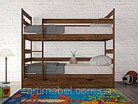 Кровать 2-х ярусная Ясная 800х1900 +ящ.венге т. (Олимп)