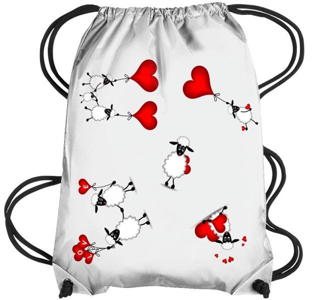 Рюкзак белый с Вашим дизайном, габардин