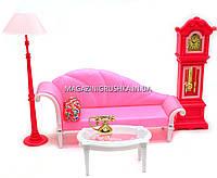 Детская игрушечная мебель Gloria для куклы Барби ГОСТИНАЯ.  Обустройте кукольный домик. (Глория 96010)
