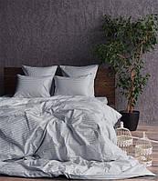 Постельное белье страйп-сатин Silver (светло-серый), фото 1