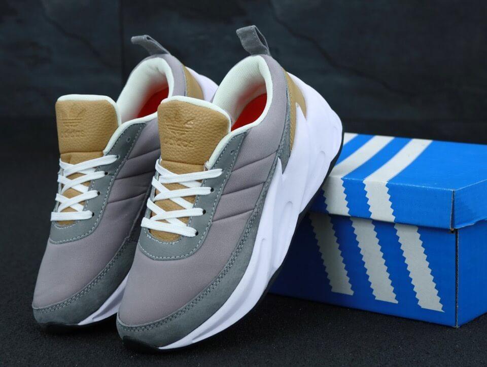 Бежевые кроссовки Adidas Sharks (Адидас Шаркс мужские и женские размеры 36-45)